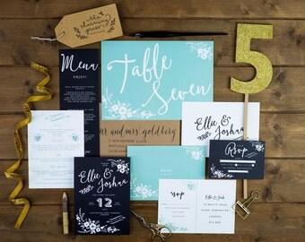 Invitación de boda Boho - pedido mínimo de 25