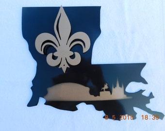 New Orleans Saints and NOLA Skyline
