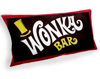 Wonka Bar Charlie and the Chocolate factory - Custom Geek Fabric Cushion Pillow cover Home Decor Thrown Pillow With Inner