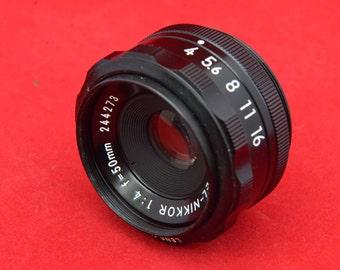 Nikon 50 mm f 4.0 enlarger lens M39
