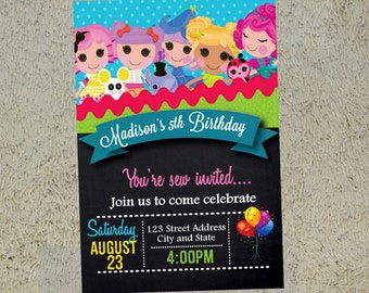 Lalaloopsy Birthday Invitation Lalaloopsy Invitation Lalaloopsy Invite Free Thank you Card Included
