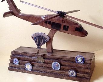 Blackhawk UH-60 Helicopter 4D Coin Holder