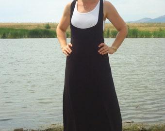 Black overall dresses/Pinafore dress /Comfortable Dress /Summer dress /Kaftan Dress / Oversized dress/All sizes- Us Uk Eu