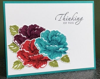 Thinking Of You Stampin' Up Handmade Card