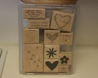 Stampin' Up! Retired Simply Said wood mounted