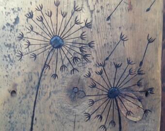 Dandelions Barnwood Wall Art