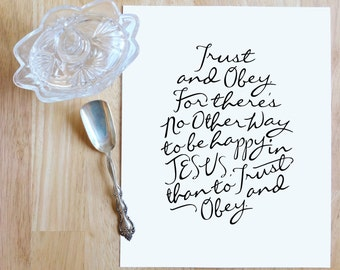 """Trust and Obey  