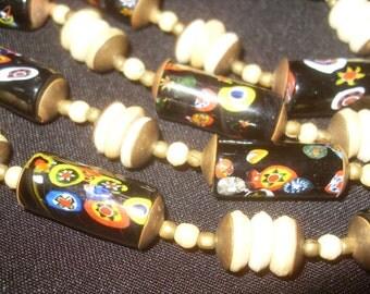 Czech Bohemian Fused Art Glass Necklace Original
