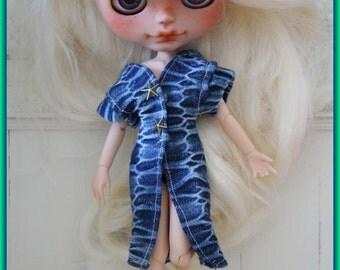 krokuss DENIM DRESS or COAT for Blythe!