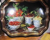 Large Vintage Metal Tray - Painting by Galley - Stephanie Hoppen Picture Archive - Made in England