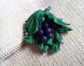 Valentine's Day Gift Grape Brooch leather Embellishments Natural brooch Grapes Bunch of grapes Elegant brooch lovers grapes Natural style