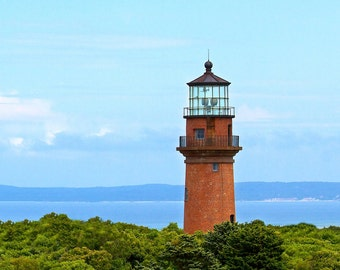 Gay Head Lighthouse ~ Aquinnah, Martha's Vineyard, Gorgeous Photograph, Long Exposure, Nautical, Artwork, Wall Art, Coastal Decor, Beach
