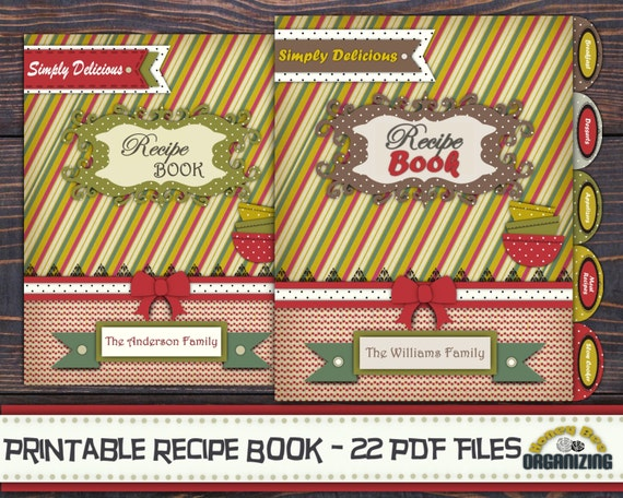 Diy printable recipe book templates pdf recipe for Cookbook covers template