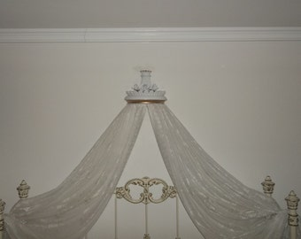 Exquisite Bed Crown with Lace, Bed Crown Canopy, Bed Teester, Bed Crown with Roses, Princess Crown