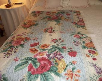 Lovely Chintz Fabric 8 yards, Chintz Amberley Pattern, Flowered Fabric