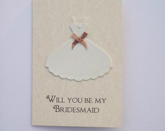 Vintage Style Wedding Will you be my Bridesmaid or Thank You Card