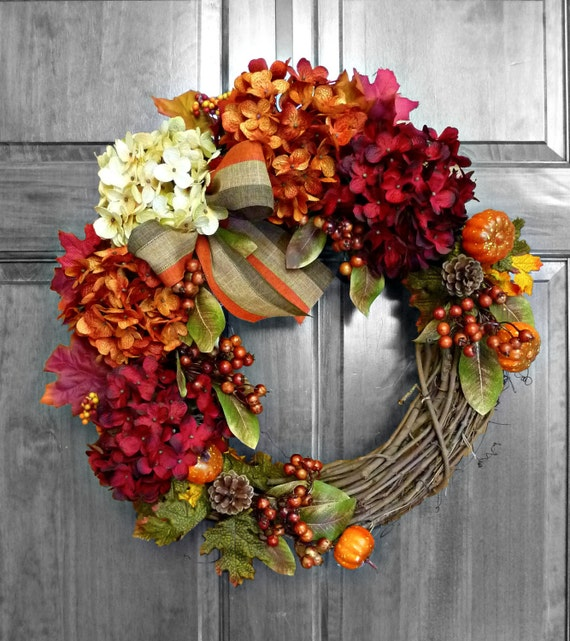 Fall wreath front door wreaths fall decorations by Fall autumn door wreaths