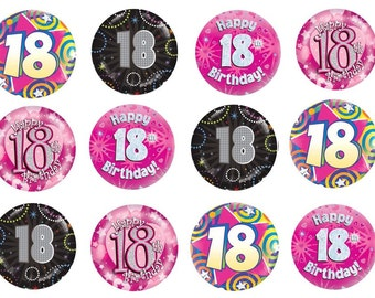 Edible Rice Paper Cupcake Toppers - 18 18th Eighteenth Birthday Party - Cake Topper CT115