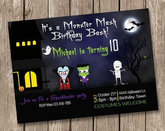 Halloween Birthday Invitation