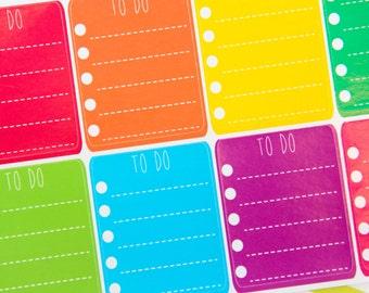 8 Rainbow To Do List Stickers