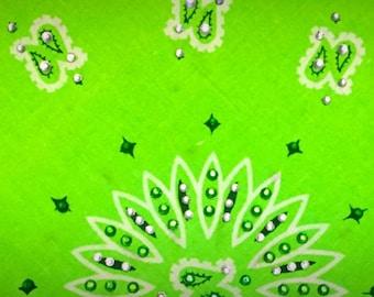 Lime Green Bling Bandana