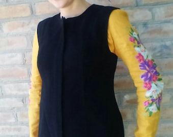 Etnic ukrainian vest. Cotton vest.Folk clothes.