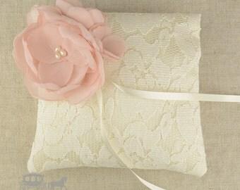 Italian Lace Pillow - Ring Pillow - Ring Bearer Pillow - Ring Cushion - Flower Girls - Wedding Pillow - Silk Ring Pillow - Ring Bearer