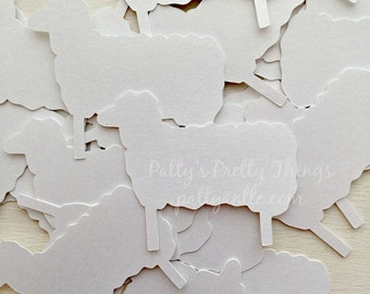 Sheep Die Cuts, Sheep Confetti, Shimmer Sheep Die Cuts, Shimmer Sheep Confetti, 25 Ct.