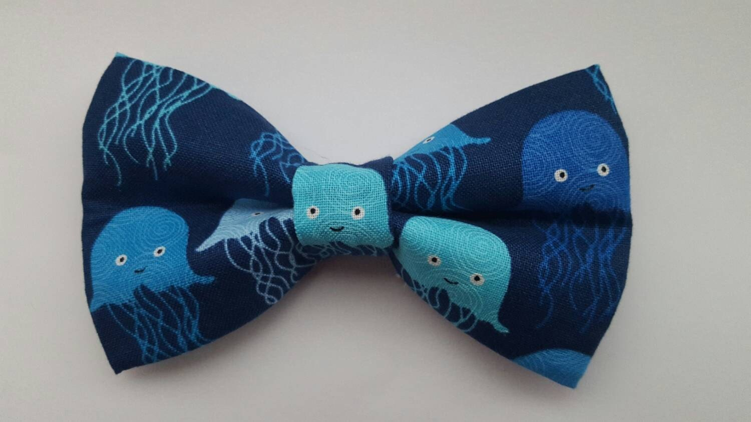 Jelly fish hair bow boys bow tie dog bow tie for Fish bow tie