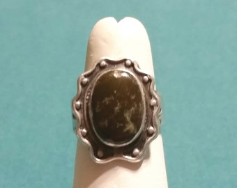 SSGEMR12 Final Markdown ON SALE! Vintage Sterling Silver Gemstone Ring - Native American