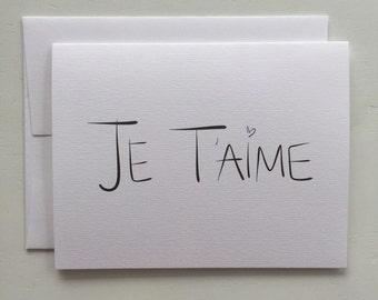 Je T'aime Card (GC054101)