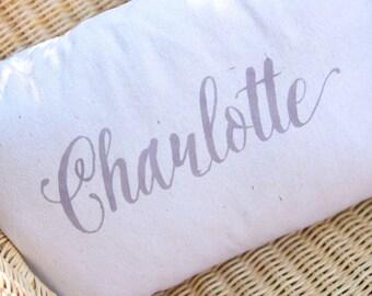 Handpainted Cursive Name Pillow