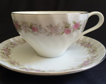 Dansico Teahouse Rose Cup and Saucer