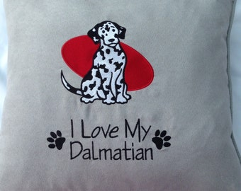 I Love My Dalmatian Cushion