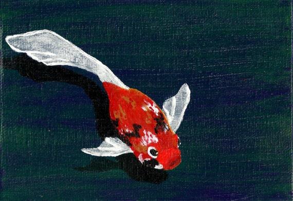 Koi fish painting miniature koi fish painting koi fish for Miniature koi fish