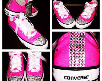 Bedazzled Pink Converse