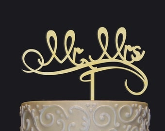 Wedding Cake Topper - Personalized Monogram Cake Topper - MR-MRS Cake Topper - Rustic Chic Wedding - Wedding cake decor - Elegant Rustic