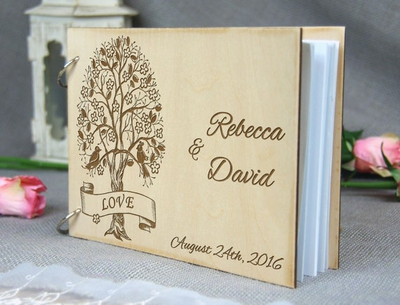 Unique personalized Wedding-Anniversary-Bridal shower guest book, Gift ...
