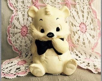 Vintage Ashland Rubber Bear Squeak Toy Cute Bear Baby Toy Like Edward Mobley Toddler Kitsch