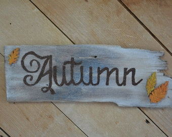 Antique Wooden Shingle- Autumn