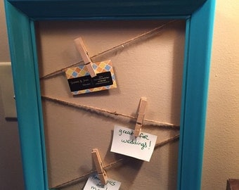 Rustic picture frame with twine - picture display - bridal shower gift - wedding gift - rustic home decor - memo board - keepsake