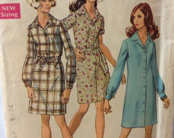 Simplicity 8294 vintage 1960's misses shirtwaist dress sewing pattern size 10 bust 32.5 bust 32 1/2