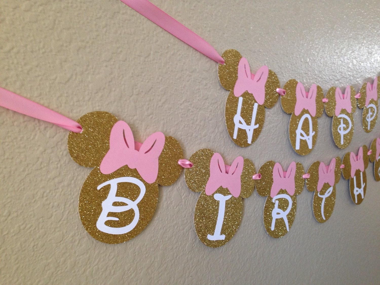 Decoracion Minnie Gold ~ Minnie Mouse Birthday Banner Minnie Mouse by CuddleBuggParties