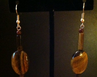 Tiger Eye Dangle Drop