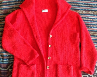 brilliant Vermillion cardigan