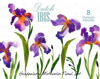 Iris clipart   Etsy