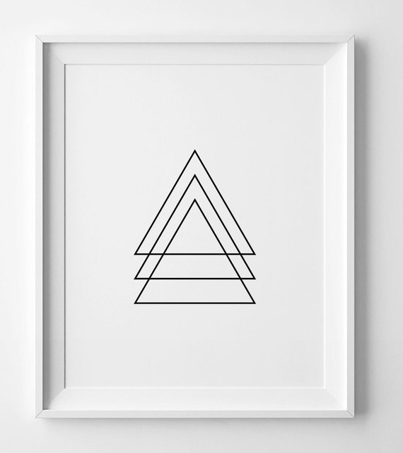 Black And White Art Geometric Wall Art Print Printable Wall