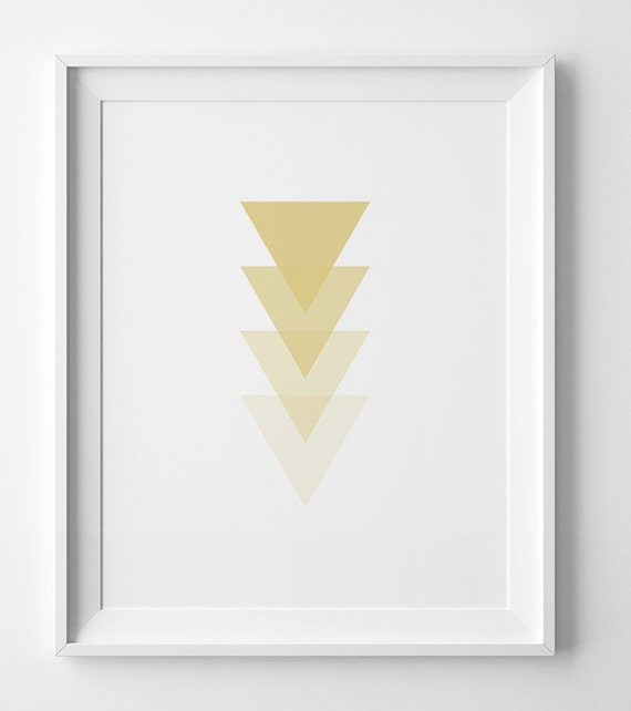 Gold Arrow Wall Decor : Gold print printable wall art arrow yellow