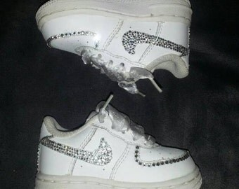 Custom Bling Air Force Ones Bling Tennis Shoes Bling &