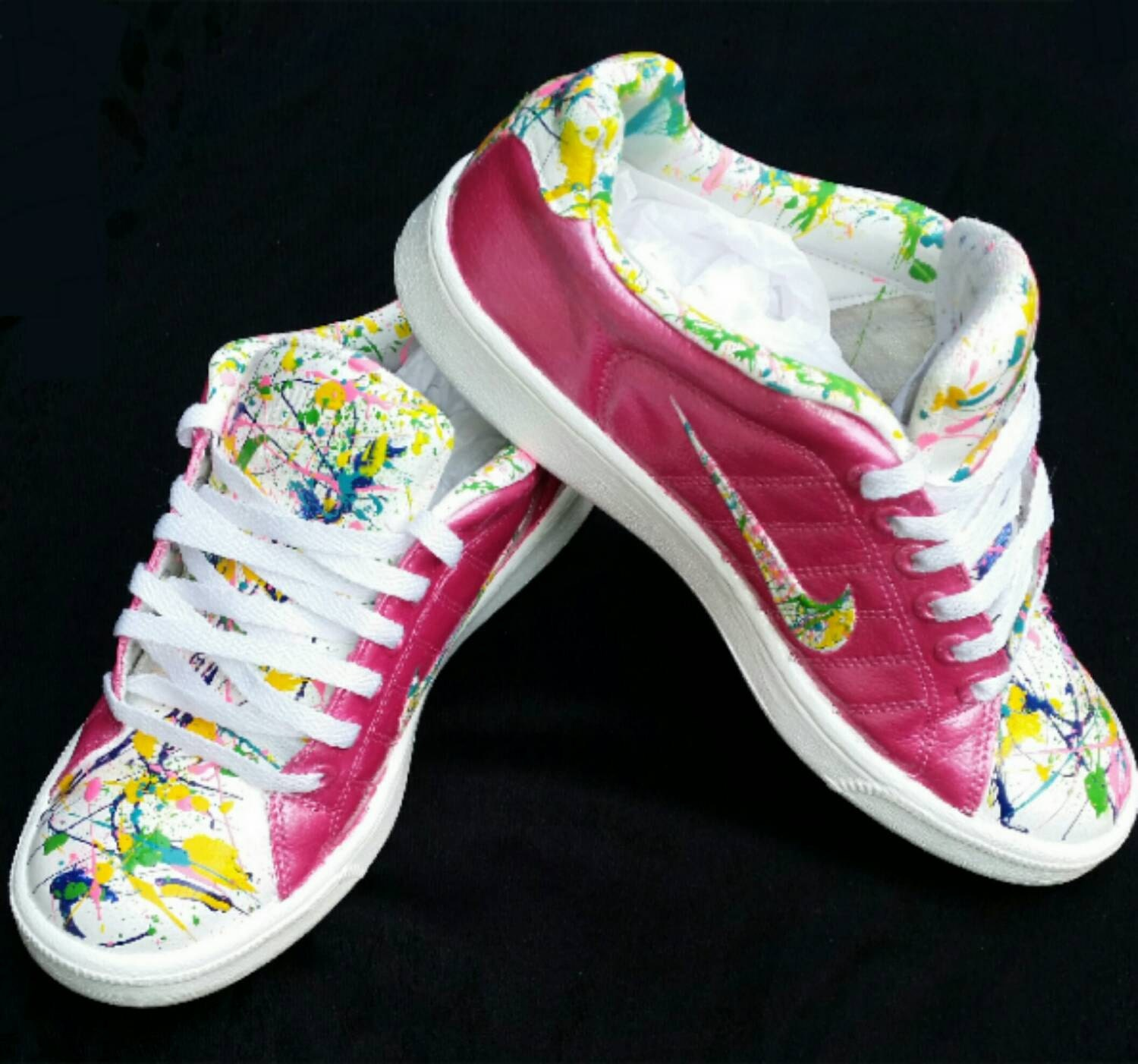 Custom Painted Splatter Painted Nike's Air by DivineUnlimited